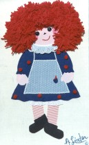 One of Arlene's original Mop Tops designs