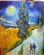 """Copying Van Gogh""Acrylic on canvas30""H x 24""W x 0.75""D"