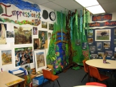 A student and teacher favorite: my Monet scene in the impressionists corner.