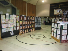 Open House: The gym was transformed into walls and walls of art.