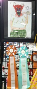 "Jesse wins Best of Show for his piece, ""I Said No Pickles!"" 2012, Sonoma County Fair"