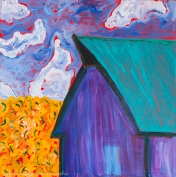 """Old Barn"" Acrylics on canvas2' H x 2' W x 2.25"" D"