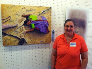 """In the News"" wins honorable mention at the Fresh Art show in Marin County."