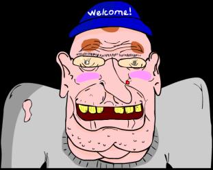 """Wal-Mart Greeter""computer animation"