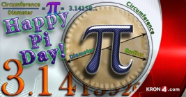 Pi Day graphic design for KRON News created by Joelle Burnette.