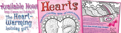 Hearts: The Adult Coloring Book of Love's Journey. More than 50 full-page designs. Visit http://amzn.to/2ekMg2Z. Share the love! #Hearts #ColoringBooks #holidaygift